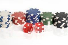 Dados del casino Fotos de archivo