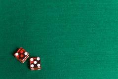Dados del casino Imagenes de archivo