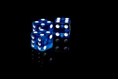 Dados del casino imagen de archivo
