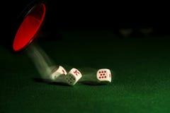 Dados del póker Fotografía de archivo