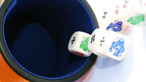 Dados del póker de la vendimia Fotos de archivo libres de regalías