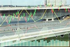 Dados do índice de ações da indústria da construção Imagens de Stock Royalty Free