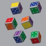 Dados do arco-íris com Grey Points Fotos de Stock Royalty Free