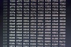 Dados do arquivo binário em números hexadecimais foto de stock
