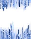 Dados do código binário que fluem no indicador Imagens de Stock