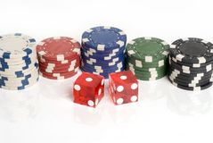 Dados do casino Fotos de Stock