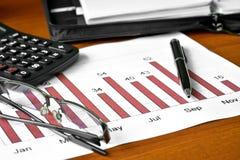 Dados do gráfico de barra Foto de Stock
