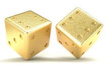Dados do ouro foto de stock royalty free