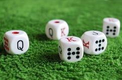 Dados do póquer Imagens de Stock