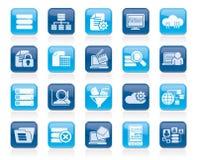 Dados e ícones da analítica Imagem de Stock Royalty Free
