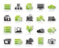 Dados e ícones da analítica Fotografia de Stock