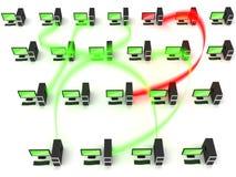 Dados e conceito de transferência de arquivos Imagens de Stock Royalty Free