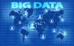 Dados e conceito grandes do mercado Projeto para a bandeira da Web e o processo criativo Infographic futurista do visualização gr Fotos de Stock