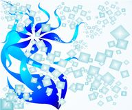 Dados e fitas abstratos Imagens de Stock Royalty Free