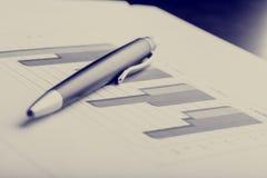 Dados e tendências nas estatísticas Fotografia de Stock
