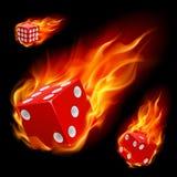 Dados en fuego stock de ilustración