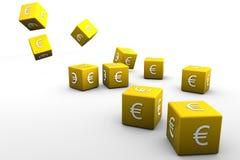 Dados euro Fotos de archivo libres de regalías
