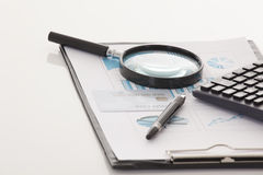 Dados financeiros Imagens de Stock Royalty Free