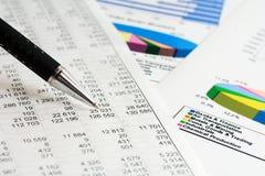 Dados financeiros. Fotos de Stock