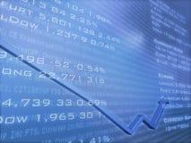 Dados financeiros com seta Fotografia de Stock Royalty Free