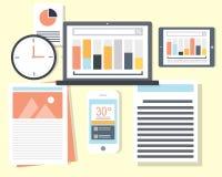 Dados financeiros dos gerentes imagens de stock