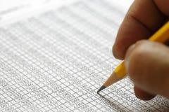 Dados financeiros que analisam - imagem conservada em estoque Imagem de Stock