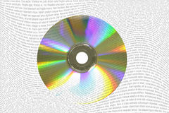 Dados fora do CD Fotografia de Stock Royalty Free