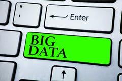 Dados grandes do texto da escrita da palavra Conceito do negócio para a grande quantidade de informação que precisa de ser analis Fotografia de Stock Royalty Free