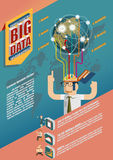 Dados grandes Infographic Imagem de Stock Royalty Free