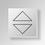 dados Gray Button Icon Concept do quadrado 3D Fotos de Stock Royalty Free