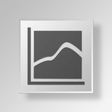 dados Gray Button Icon Concept do quadrado 3D Foto de Stock