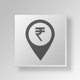 dados Gray Button Icon Concept do quadrado 3D Foto de Stock Royalty Free
