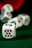 Dados III del póker Fotografía de archivo