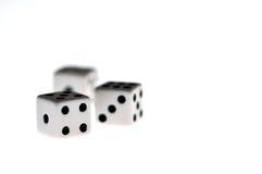 Dados, jogando, destino, destino, sorte, azarado, conceito Foto de Stock Royalty Free