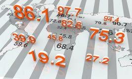 Dados numéricos Fotos de Stock