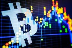 Dados que analisam no mercado de valores de ação da troca: os carvões animais da vela no dis Imagem de Stock Royalty Free
