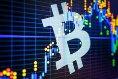 Dados que analisam no mercado de valores de ação da troca: os carvões animais da vela no dis Imagens de Stock