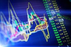 Dados que analisam no mercado dos estrangeiros: as cartas e as citações na exposição Foto de Stock