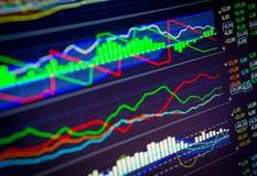 Dados que analisam no mercado dos estrangeiros: as cartas e as citações na exposição Fotografia de Stock Royalty Free
