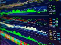 Dados que analisam no mercado dos estrangeiros: as cartas e as citações na exposição Imagens de Stock Royalty Free