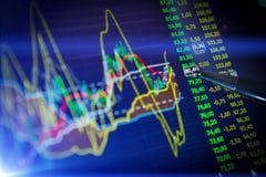 Dados que analisam no mercado dos estrangeiros: as cartas e as citações na exposição Foto de Stock Royalty Free