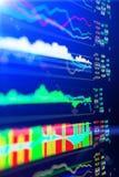 Dados que analisam no mercado dos estrangeiros: as cartas e as citações na exposição Imagem de Stock Royalty Free