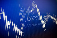 Dados que analisam no mercado estrangeiro Imagens de Stock
