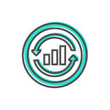 Dados que classificam o ícone com sinal da carta Foto de Stock Royalty Free