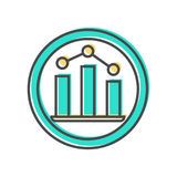 Dados que classificam o ícone com sinal do diagrama Imagens de Stock
