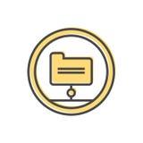 Dados que classificam o ícone com sinal do dobrador Imagens de Stock Royalty Free