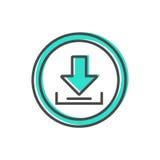 Dados que classificam o ícone com sinal do processo de carga Fotos de Stock