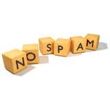 Dados sin Spam imagen de archivo