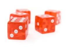 Dados vermelhos Imagem de Stock Royalty Free