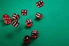 Dados vermelhos Foto de Stock Royalty Free